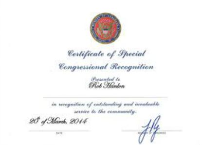 Certificate-of-special-congressional-recognition